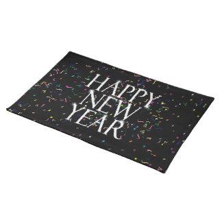 Feliz Año Nuevo chispeante Mantel Individual