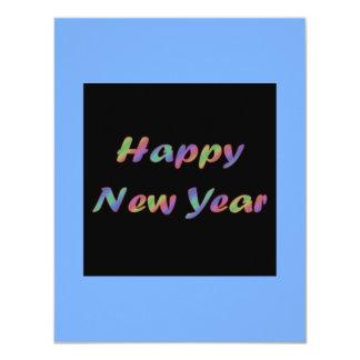 """Feliz Año Nuevo colorida Invitación 4.25"""" X 5.5"""""""