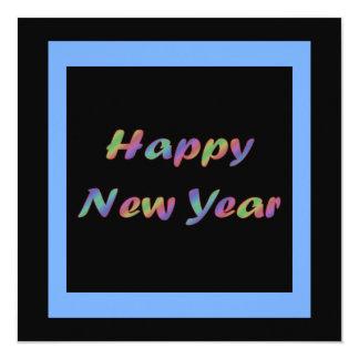 """Feliz Año Nuevo colorida Invitación 5.25"""" X 5.25"""""""