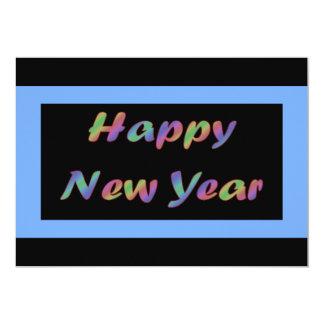 """Feliz Año Nuevo colorida Invitación 5"""" X 7"""""""
