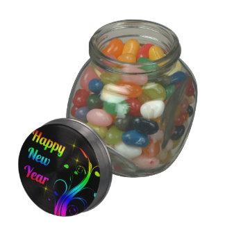 Feliz Año Nuevo colorida Jarras De Cristal