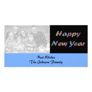 Feliz Año Nuevo colorida Tarjeta Fotográfica