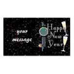Feliz Año Nuevo con Champán y el confeti