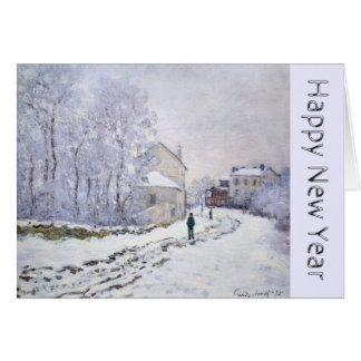 Feliz Año Nuevo con Claude Monet - tarjetas de
