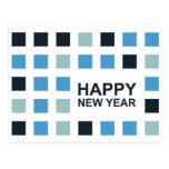 Feliz Año Nuevo (cuadrados de la MOD) Tarjetas Postales
