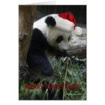 ¡Feliz Año Nuevo de la panda de las Felices Navida Tarjeton