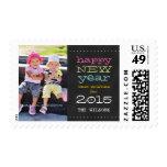Feliz Año Nuevo de la pizarra franqueo de 2015