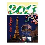 Feliz Año Nuevo de la serpiente en 2013 de Las Veg Tarjeta Postal