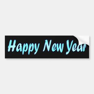 Feliz Año Nuevo de la turquesa Etiqueta De Parachoque