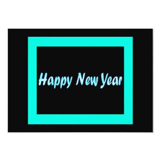 """Feliz Año Nuevo de la turquesa Invitación 5"""" X 7"""""""