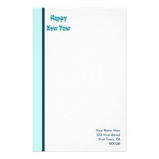 Feliz Año Nuevo de la turquesa Papeleria De Diseño