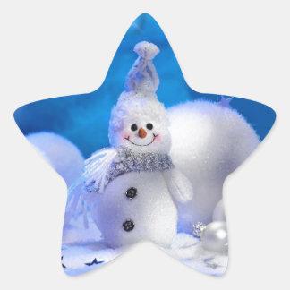 Feliz Año Nuevo de las Felices Navidad - días de Calcomanía Forma De Estrella