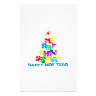 """Feliz Año Nuevo de las Felices Navidad Folleto 5.5"""" X 8.5"""""""