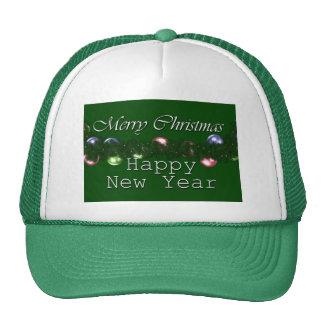 Feliz Año Nuevo de las Felices Navidad Gorro