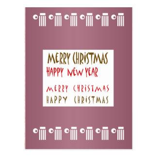 Feliz Año Nuevo de las Felices Navidad n Postal