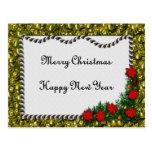 Feliz Año Nuevo de las Felices Navidad Postal