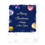 Feliz Año Nuevo de las Felices Navidad Tarjetas Postales