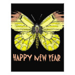 Feliz Año Nuevo de las mariposas y de las polillas Membrete A Diseño