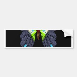Feliz Año Nuevo de las mariposas y de las polillas Pegatina Para Auto