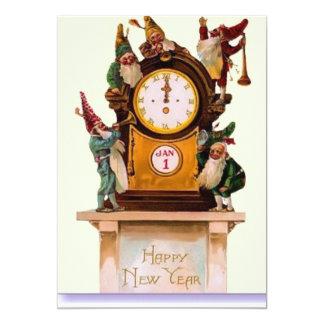 """Feliz Año Nuevo de los duendes Invitación 5"""" X 7"""""""