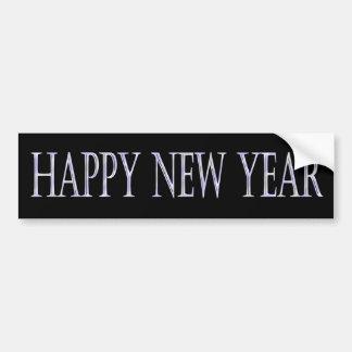 Feliz Año Nuevo de plata Pegatina De Parachoque