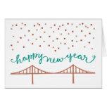 ¡Feliz Año Nuevo de San Francisco! Tarjeta De Felicitación