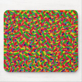 ¡Feliz Año Nuevo del confeti multicolor Alfombrillas De Ratones