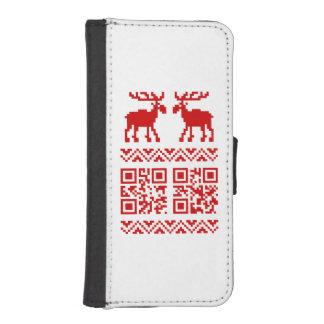 ¡Feliz Año Nuevo del navidad del código feo del Billetera Para Teléfono