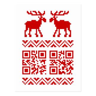 ¡Feliz Año Nuevo del navidad del código feo del Postal