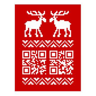 ¡Feliz Año Nuevo del navidad del código feo del Postales