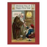 Feliz Año Nuevo del vintage Postal