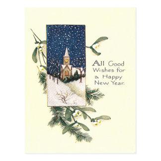 Feliz Año Nuevo del vintage Tarjetas Postales