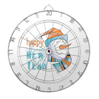 Feliz Año Nuevo Tablero Dardos