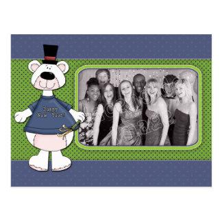 Feliz Año Nuevo - diseño del oso Tarjetas Postales