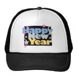 Feliz Año Nuevo elegante Gorras