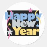 Feliz Año Nuevo elegante Pegatinas