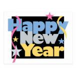 Feliz Año Nuevo elegante Postal