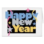 Feliz Año Nuevo elegante Tarjetón
