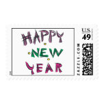 Feliz Año Nuevo en colores del caramelo Franqueo