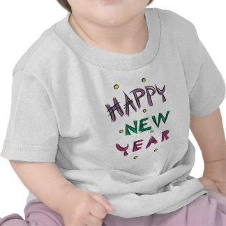Feliz Año Nuevo en colores del caramelo Camisetas