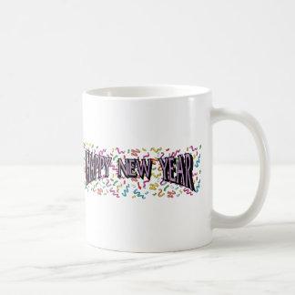 Feliz Año Nuevo en púrpura Taza De Café