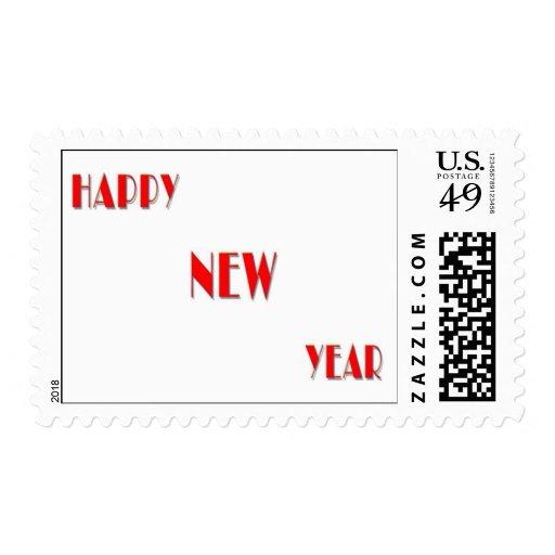 Feliz Año Nuevo Estampilla