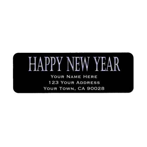 Feliz Año Nuevo Etiqueta De Remite