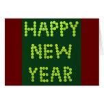Feliz Año Nuevo - fans de tenis Tarjeta De Felicitación