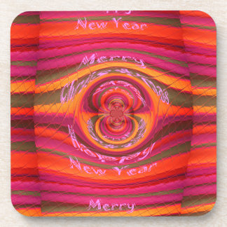 Feliz Año Nuevo feliz Desig de las Felices Navidad Posavasos De Bebida