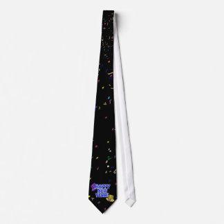 ¡FELIZ AÑO NUEVO! Gorras azules del texto w/Party Corbatas