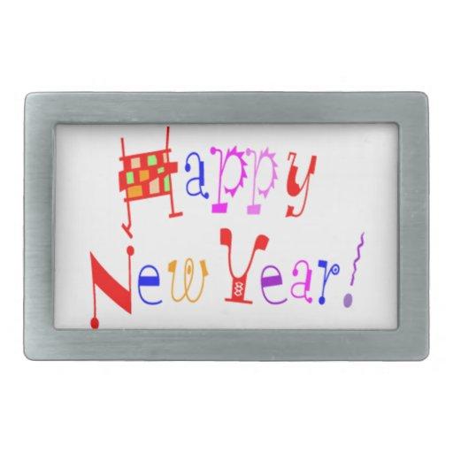 Feliz Año Nuevo - Hebilla Cinturon Rectangular