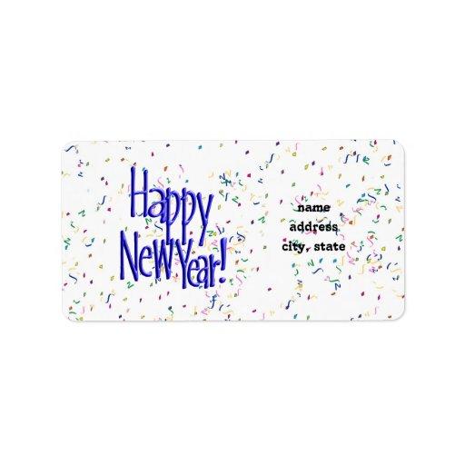 ¡FELIZ AÑO NUEVO! Imagen del texto Etiquetas De Dirección