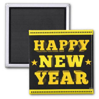 Feliz Año Nuevo Imán Cuadrado