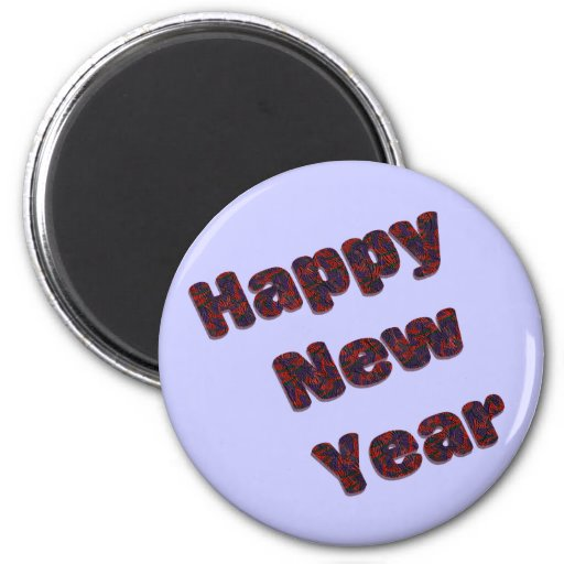 Feliz Año Nuevo Imán De Frigorífico